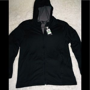 Under Armour Black Full Zip Up Hoodie Men's sz Lg